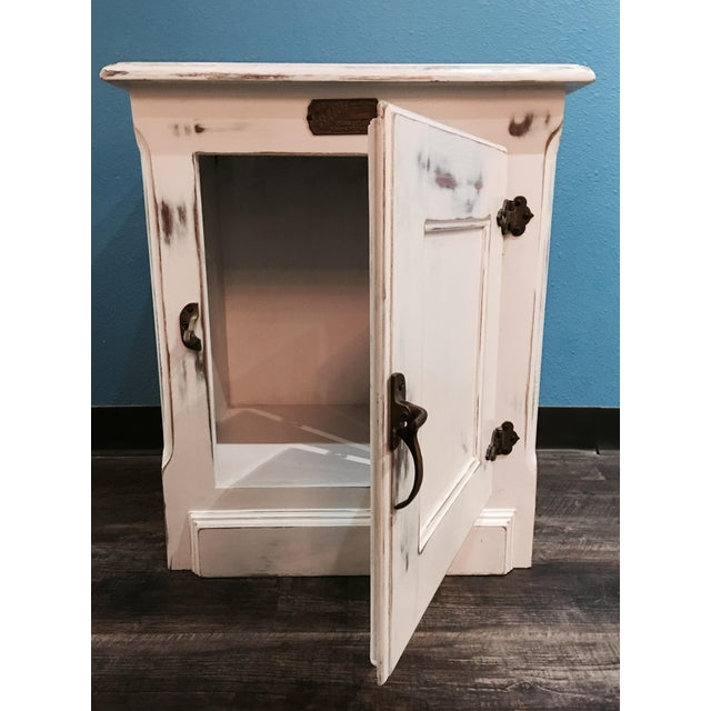 Rustic Ice Box-Style Side Table - Image 3 of 4