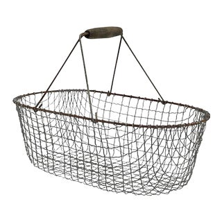 Vintage French Market / Garden Basket For Sale