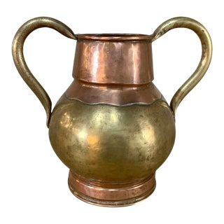 19th Century Copper & Brass Pot For Sale