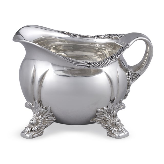 Gothic Chrysanthemum Sterling Silver Tea Set by Tiffany & Co. - 3 Pc. Set For Sale - Image 3 of 5