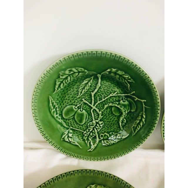 Bordallo Pinheiro Bordallo Pinherio Fruit Pattern Salad Plates - Set of 4 For Sale - Image 4 of 8