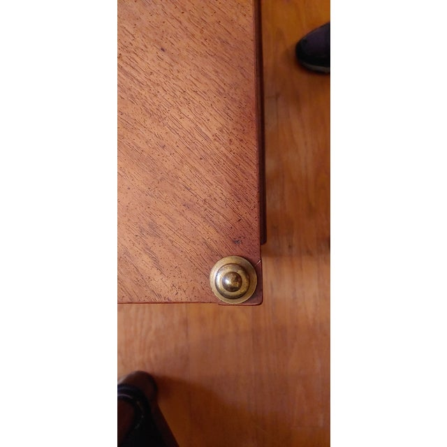 Vintage Henredon Wood + Brass End Tables - a Pair For Sale - Image 9 of 13