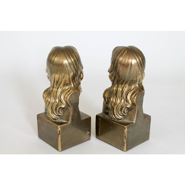 Female Brass Bookends For Sale - Image 4 of 11