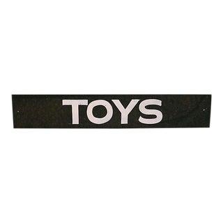 Vintage Toys Sign For Sale