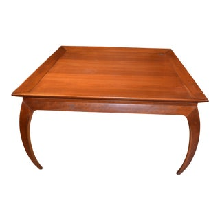 Mid Century Modern Harden Square Cherry Wood Coffee Table For Sale