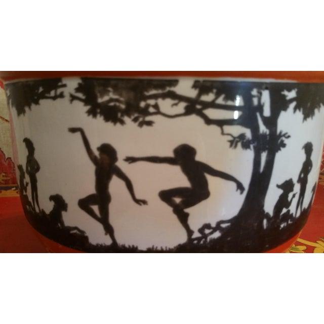 Art Deco Silhouette Fairy Jardiniere For Sale - Image 4 of 5
