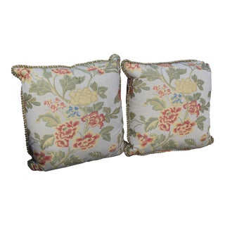 Possible Italian Scalamandre Down Filled Pillows - A Pair For Sale