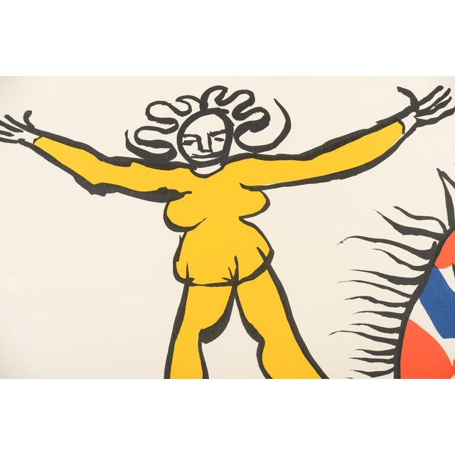 """""""Circus Bareback Rider"""" Framed Alexander Calder Lithograph For Sale In Los Angeles - Image 6 of 10"""