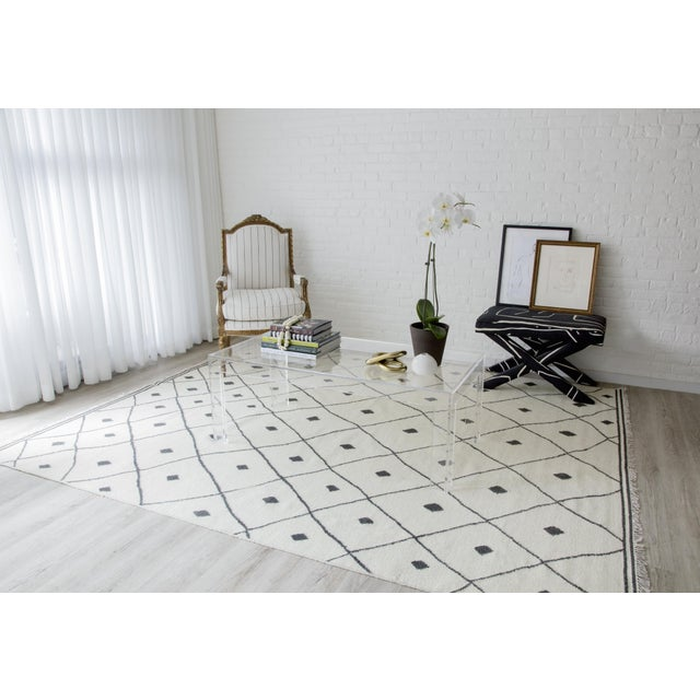 Textile Erin Gates by Momeni Thompson Appleton Ivory Hand Woven Wool Area Rug - 7′6″ × 9′6″ For Sale - Image 7 of 8
