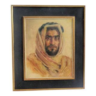 "1930s ""Bedouin"" Oil on Canvas Portrait Painting For Sale"
