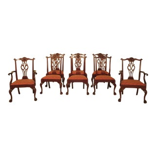 43475e Henkel Harris #112 Ball & Claw Mahogany Dining Room Chairs - Set of 8