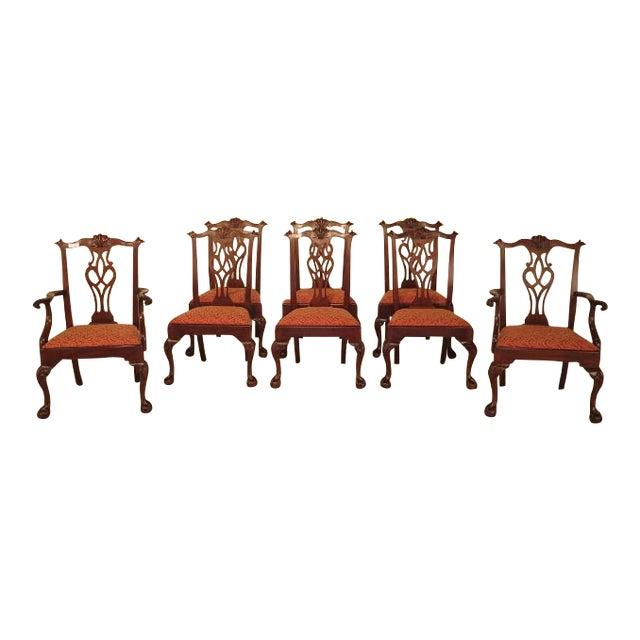 43475e Henkel Harris 112 Ball Claw Mahogany Dining Room Chairs