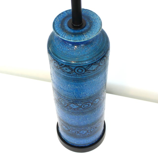 Bitossi for Raymor Blue Pottery Lamp - Image 2 of 9