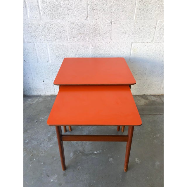 1960s Vintage Mid-Century Danish Modern Nesting Tables (Set of Two) For Sale - Image 5 of 13