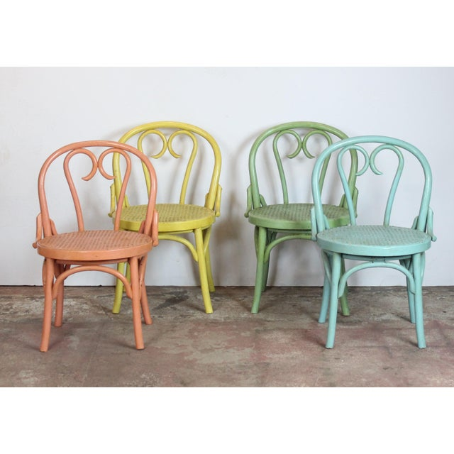 Blue 1940s Vintage Bistro Chairs- Set of 4 For Sale - Image 8 of 8