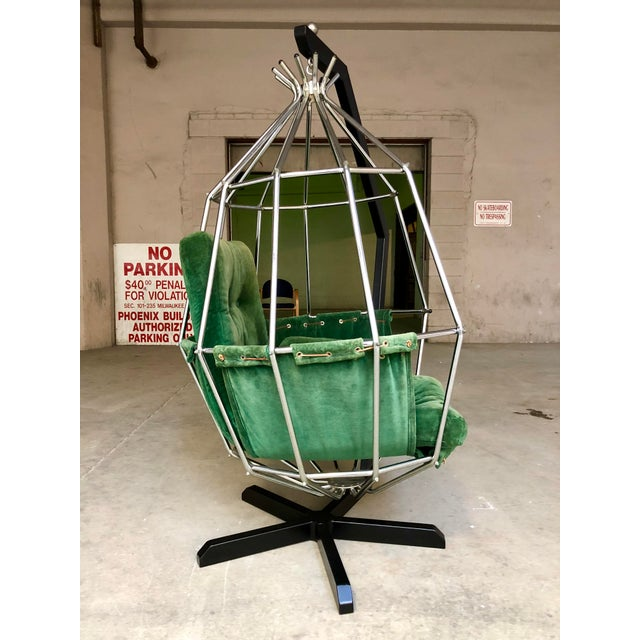 1970s Mid Century Modern Ib Arberg Parrot Chair Hanging Birdcage Chair For Sale - Image 5 of 13