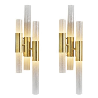 Murano Glass Tube Sconces For Sale