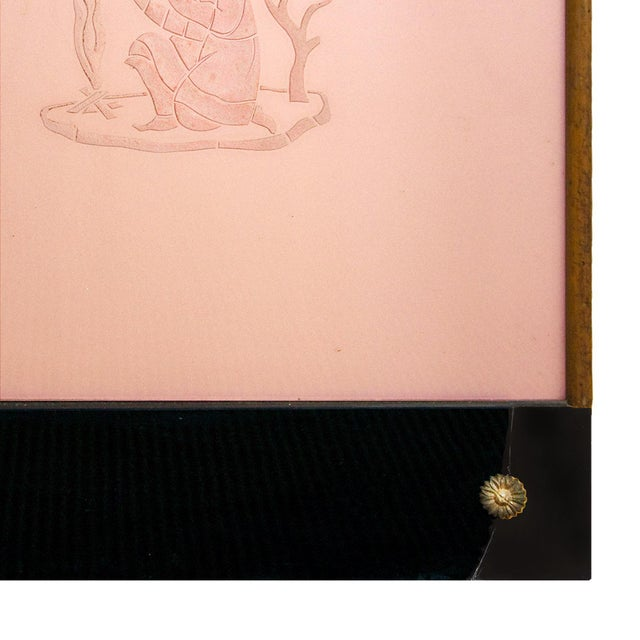 Art Deco Decorative Panel With Console, Attributed to Fontana Arte - Italy 1930 For Sale - Image 12 of 13
