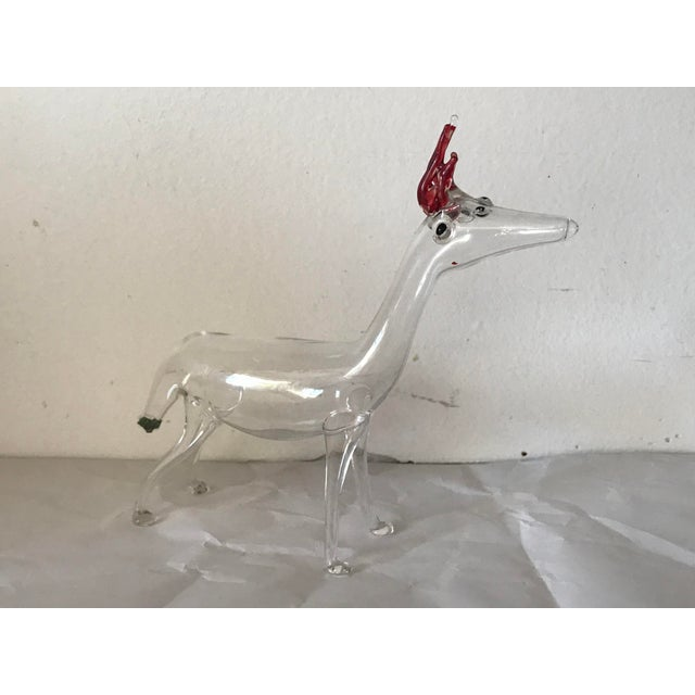Figurative 4 Handblown Animal Sculptures For Sale - Image 3 of 8