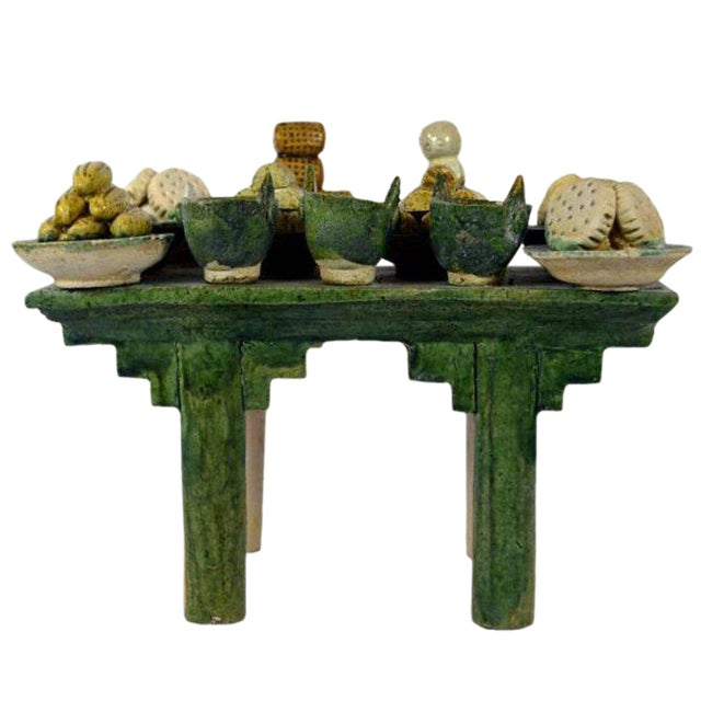 Ming Dynasty Terracotta Funeral Table from China, 15th-16th Century For Sale