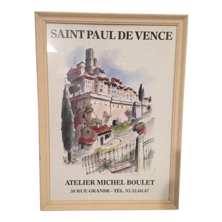 Saint Paul De Vence Framed Print For Sale