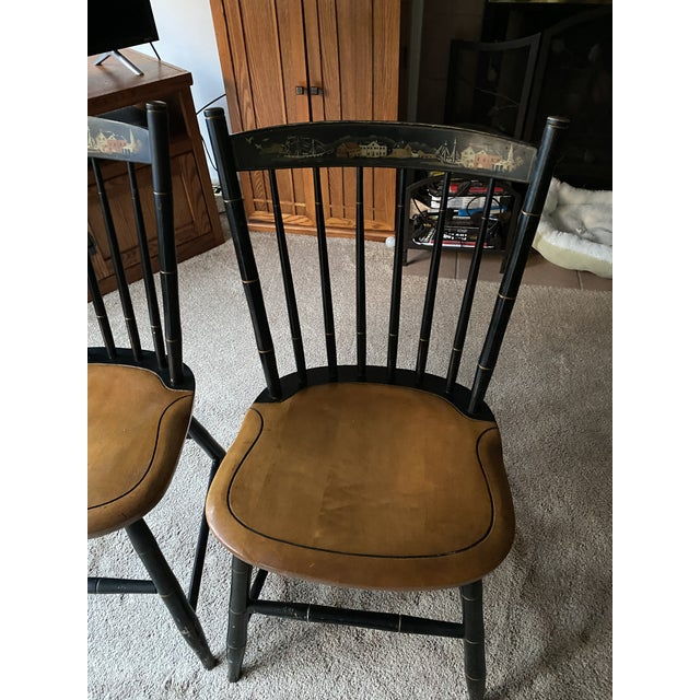 2 matching Hitchcock chairs. These were purchased at an Estate auction and can use some TLC as you can see in images. They...