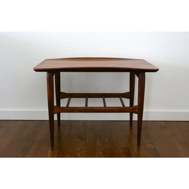 Mid-Century Modern 1960s Danish Modern Bassett Surfboard End Tables - a Pair For Sale - Image 3 of 12