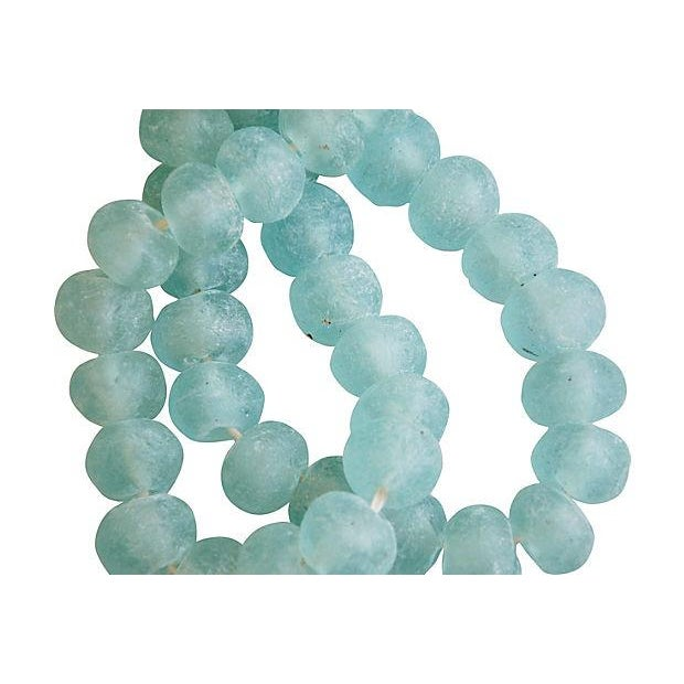 Icy Blue Jumbo Sea Glass Bead Strands - a Pair - Image 4 of 4