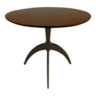 Italian Art Deco Rosewood Low Pedestal Base End Table For Sale