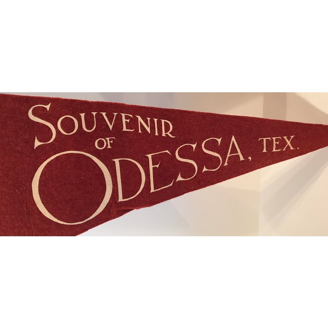 Vintage Odessa, TX Souvenir Pennant For Sale - Image 5 of 7