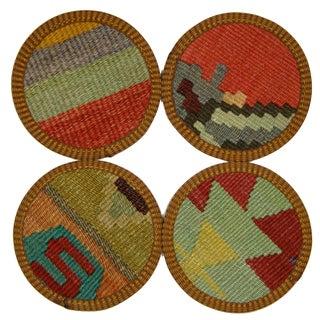 Turkish Kilim Coasters, Malatya - Set of Four
