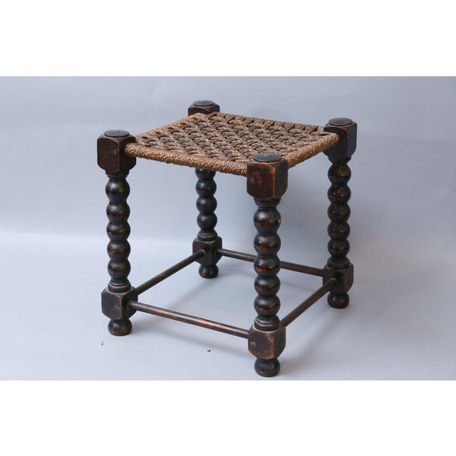 Early English Bobbin Oak Footstool - Image 2 of 8