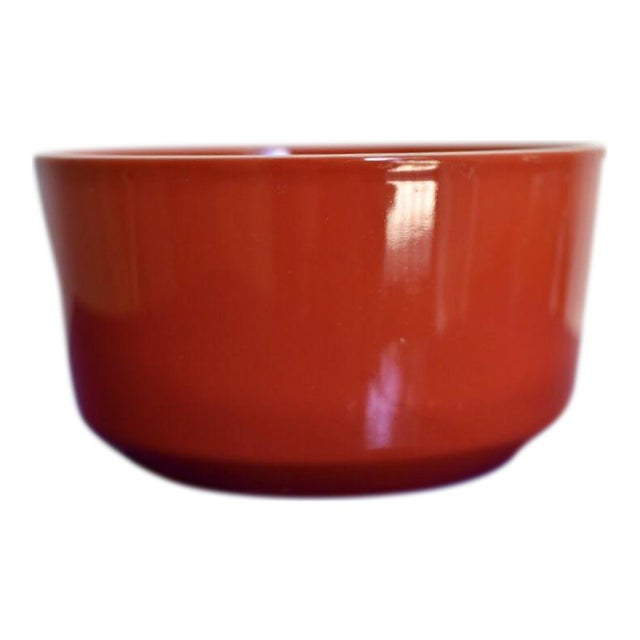 Red Bowl With White Rim - Image 1 of 6