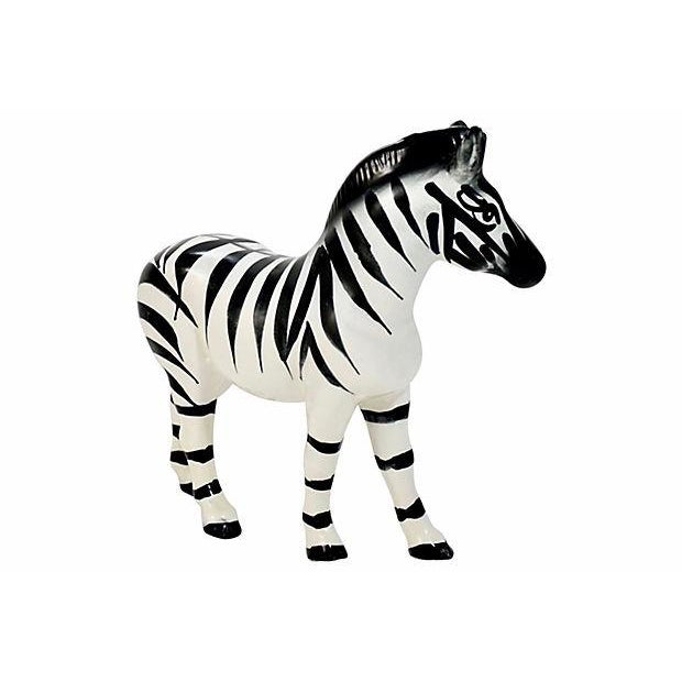 Capodimonte Italian Handmade Zebra Figurine For Sale - Image 4 of 9