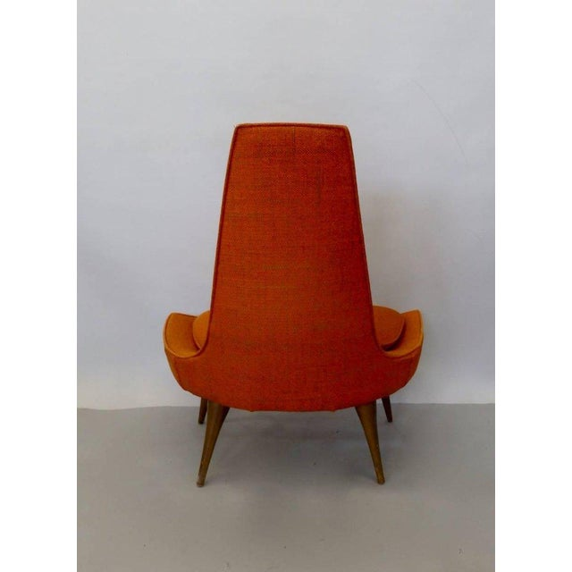 Karpen of California Original Condition Karpen of California Tall Back Lounge Chair For Sale - Image 4 of 9