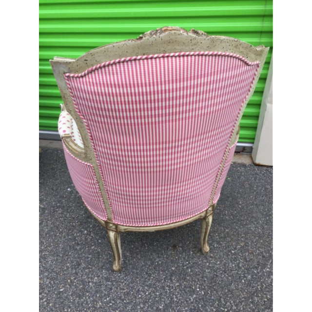 Vintage Mid Century French Style Bergere Chairs- a Pair For Sale - Image 9 of 12