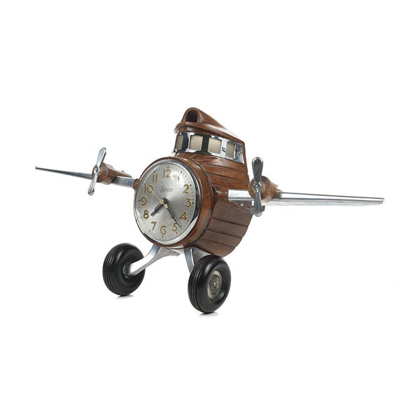 MasterCrafters Sessions Airplane Electric Clock - Image 1 of 10