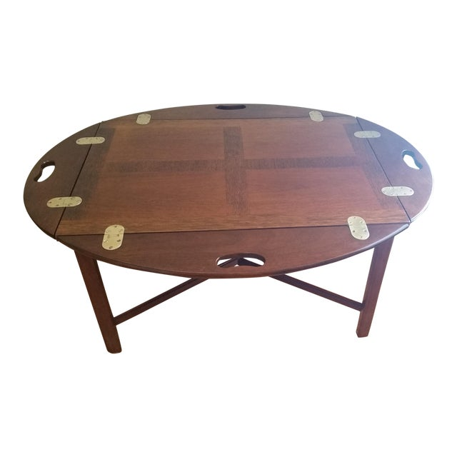 Vintage Mahogany Butler's Table - Image 1 of 10