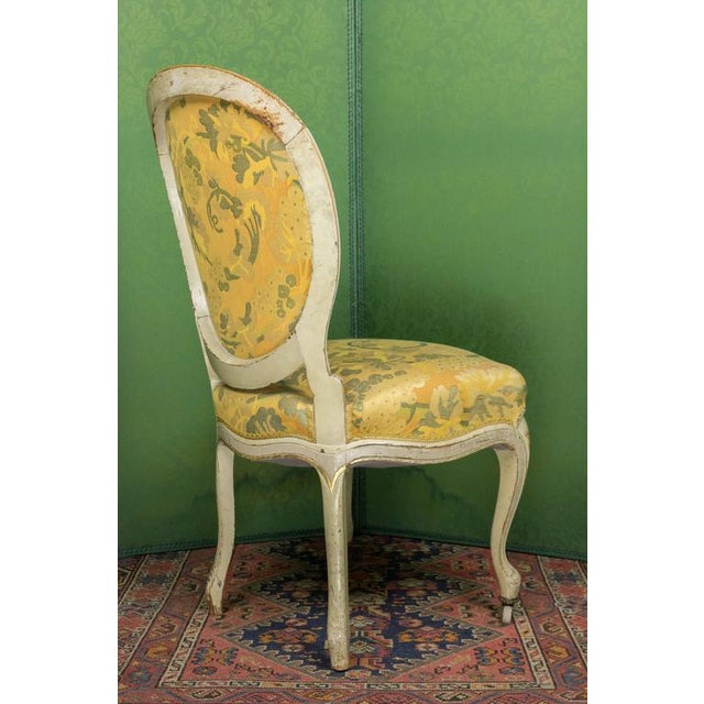 Late 19th Century Pair of Louis XV Style Side Chairs For Sale - Image 5 of 11