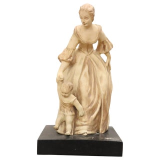20th Century Italian Sculpture in Clay Mom With Her Baby, Signed For Sale