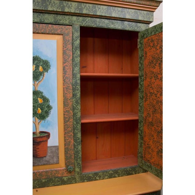 Whimsical Hand-Painted Solarium or Garden Room Cabinet - Image 8 of 10