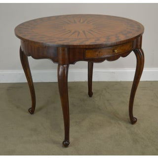 "Theodore Alexander Sunburst Marquetry Inlaid 37"" Round Accent Table Preview"