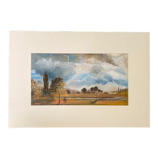 English Landscape Scene Oil Painting For Sale