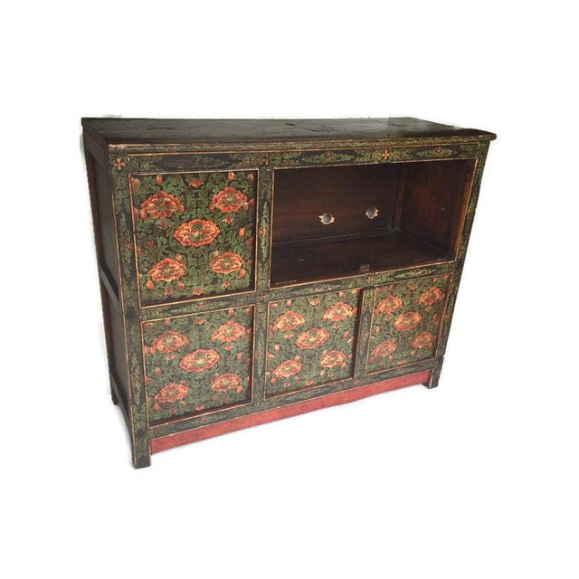 Vintage Chinese Tibetan Cabinet For Sale - Image 4 of 13