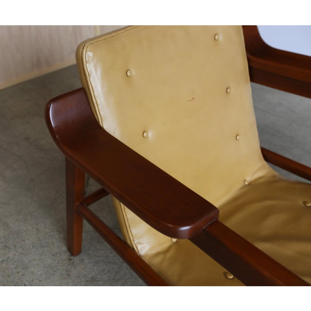 """Mid-Century Modern MId Century Tove & Edvard Kindt Larsen """"Fireplace"""" Chair For Sale - Image 3 of 8"""