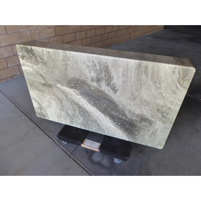 1970s Italian Faux-Marble Rectangular Coffee Table C. 1970s For Sale - Image 5 of 12