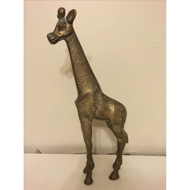 Vintage Brass Giraffe - Image 3 of 4