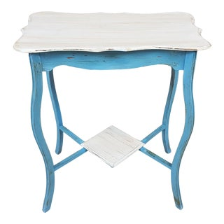 Shabby Chic Style Console Side Table For Sale