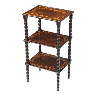 19th Century Amaranth and Satinwood Étagère For Sale