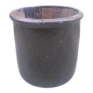 Mid Century Modern Ceramic Crock Planter For Sale
